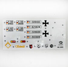 HengLong 1/16 Leopard2A6 Tank Sticker Decal Lable Decorated 3889