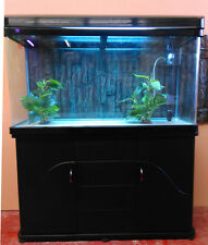 3.5ft Curved Glass Fish Tank, Cabinet and hood with lights Brandnew Complete Set