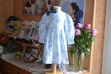 robe tatine et chocolat 12 mois belles fleurs dans le bleu ceinture