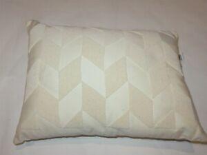 Ralph Lauren Lucia Herringbone Beaded Deco Throw Pillow NWT Hollywood cream $285