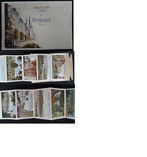 Undated Australia Colour photo Postcard Booklet Hobart Tasmania Unused