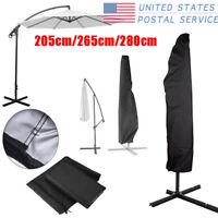 Outdoor Parasol Banana Umbrella Cover Waterproof Cantilever Garden Patio Shield