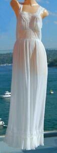 VINTAGE A.J Griffin 1950s Original Rare Beautiful Feminine Negligee Slip Dress