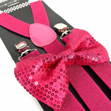 Pink Fancy Dress Accessory #CA Bow Tie Sequin