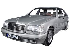 1997 MERCEDES S600 PEARL LIGHT GREY METALLIC 1/18 MODEL CAR BY NOREV 183563