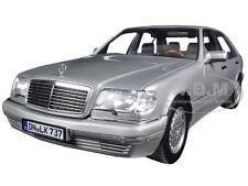 1997 MERCEDES S600 PEARL LIGHT GREY METALLIC 1/18 MODEL CAR BY NOREV 183563