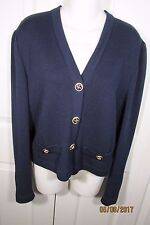 St. John Collection by Marie Gray Navy  Jacket, 10, buttons, long sleeves,