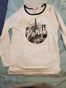 White Paris justice  long sleeve  shirt  size  16/18