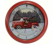 """FORD HOLIDAY TRUCK 8"""" SOUND CLOCK, 1 of 12 CHRISTMAS CAROLS ANNOUNCES EACH HOUR"""