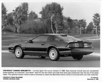 1986 Chevrolet Camaro Berlinetta Press Photo 0100