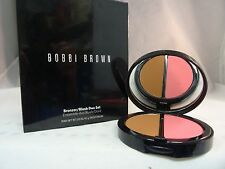 BOBBI BROWN - BRONZER/BLUSH DUO SET WITH BRUSH - DEEP - FULL SIZE - NEW IN BOX