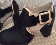 Orla Kiely Clarks, Dilly Black Shoes Size 3, EUR 35.5, US 5.5, Retro
