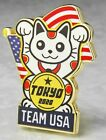 RARE! 2020 TOKYO OLYMPIC TEAM USA LUCKY CAT MEDIA PIN LIMITED EDITION medal coin