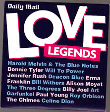 Promo CD, Love Legends, Harold Melvin, Billy Joel, Celine Dion, 15 tracks