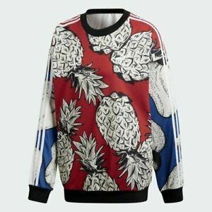 Adidas x The Farm Boyfriend Pineapple Crewneck Sweater Women's DH3054 Size XS