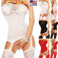 Bodystocking Womens Lingerie Body Stocking Bodysuit Nightwear Sleepwear Babydoll
