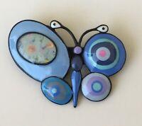 Adorable  artistic  Butterfly Brooch Pin  enamel on Metal