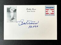 Bobby Doerr Signed Boston Red Sox 4x6 Index Card HOF Auto Autograph