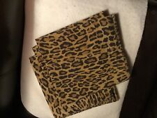 Ralph Lauren king size pillow cases leopard pattern, great look, see photos!