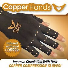 Black Copper TV Man Hands Arthritis Gloves As Seen on Therapeutic Compression