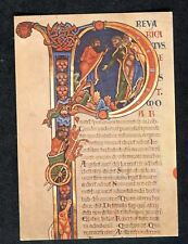 c1970s Art Card: Initial at Beginning of 11 Kings Elijah: Winchester Library