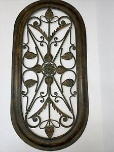Tuscan Wrought Iron Metal Wall Decor Art Rustic Vintage Garden Patio Home 31x15""
