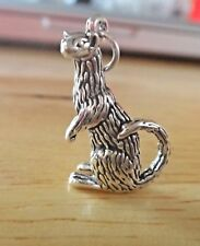 Heavy Hamster 3D .925 Solid Sterling Silver Charm pendentif made in USA