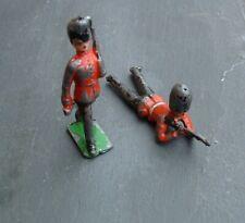 Vintage Lead Figure Royal Guard Soldiers x 2 Britains Charbens Johillco ?