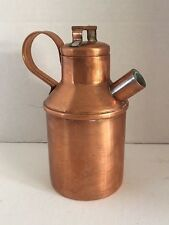 """Copper with handle Teapot or Coffee Pot Hinged Lid vintage 6 1/2"""" tall"""