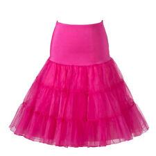 """Crinoline Petticoat Hoopless 3 Tiers Short 18""""/46cm"""