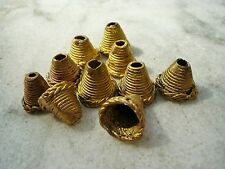 """10 Perlen Messing 12 mm Cup """"Fingerhut"""" Ghana Ashanti Wachsausschmelzverfahren"""