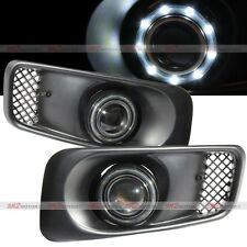 White SMDx9 LED DRL Halo Angel Eyes Projector Fog Lights Kit Fits 99-00 Civic