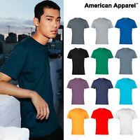 American Apparel T-shirt (2001) - Plain Fine Jersey short sleeve Blank tee Shirt