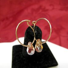 Gold Plating Citrine Dangling Earrings Magnolia Jewelry 925 Sterling Silver