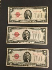 One note 1928 G $2 TWO DOLLAR RED SEAL NOTE circulated