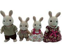 Calico Critters Sylvanian Families Hopkins Champagne Rabbit Family RARE HTF