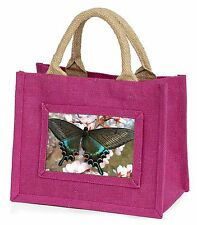 Black and Blue Butterfly Little Girls Small Pink Shopping Bag Christma, IBU-4BMP