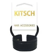 Kitsch Bendable Ponytail Cuff Ebony/Black/Hair/Vegan/Leather/Style/Styling/NEW