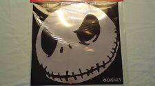 "Disney Jack Skellington Silver Vinyl Window Sticker 9"" Weather Resistant"