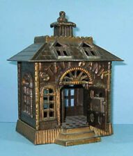 BIG PRICE CUT 1900 ST. BANK BLD CAST IRON W/OPEN DOOR GUARANTEED OLD ORIG CI 811