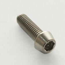 Titanium Stem Bolts- Set of six. Fit Road or MTB bars 6 x M5 16mm length, Taper
