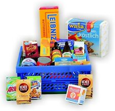 Mini Klappbox gefüllt Kaufmannsladen Zubehör Pappschachteln Lebensmittel Kinder