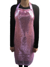 Glitter sparkly Novelty Lined Sequin Apron Kitchen