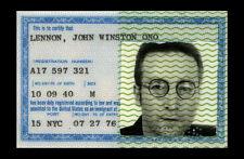 Lámina-Beatles John Lennon Original American tarjeta de identificación (imagen de arte cartel