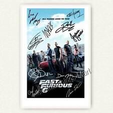 Fast & Furious 6 - Cast mit Paul Wakker, Vin Diesel ..  Autogrammfoto [AK1] 