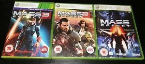 Mass Effect Trilogy (1 2 & 3) Game Collection Xbox 360 Games Bundle