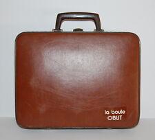 Vintage la boule OBUT 8 Boule Kugeln in Org. Lederkoffer 60-iger Jahre