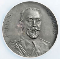 "1917, Bulgaria. Rare Zinc ""General Boyadzhiev / Great War"" Medal. NGC UNC+"