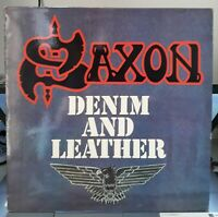LP SAXON - DENIM AND LEATHER - CARRERE 67.811 EX+ / NM+ FR.1981 TOP Condition