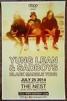 YUNG LEAN SADBOYS 2014 Gig POSTER Miami Florida Concert
